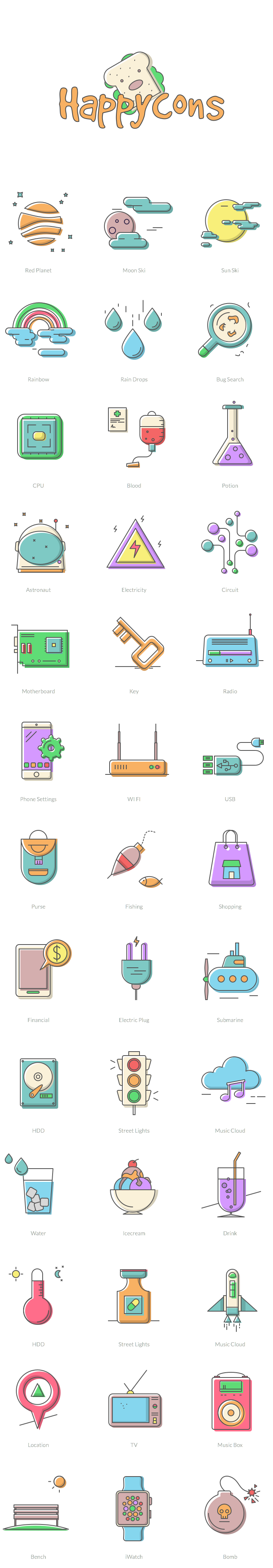 Free Download Happycons 40 Happy And Unique Icons Ai Sketch Png Svg Eps Icon Design Icon Icon Illustration