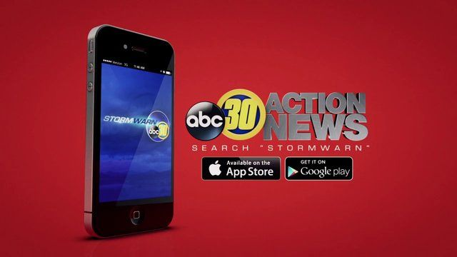 The ABC30 StormWarn app. Available on iOS and Android