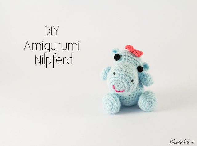 Diy Amigurumi Nilpferd Baby Mit Schleife Häkeln Pinterest