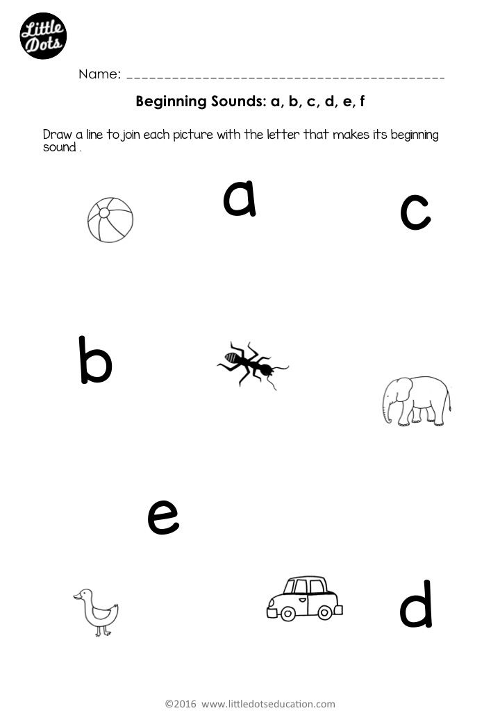 Free Beginning Sounds Worksheets For Letters A B C D And E For Preschool Or Kindergarten C Beginning Sounds Worksheets Initial Sounds Worksheets Abc Phonics