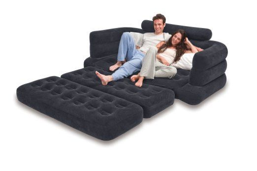 Black Inflatable Couch Pull Out Into A