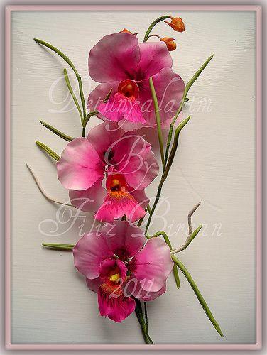 Seramik Hamuru Ile Orkide Yapımı Googleda Ara Art çiçek
