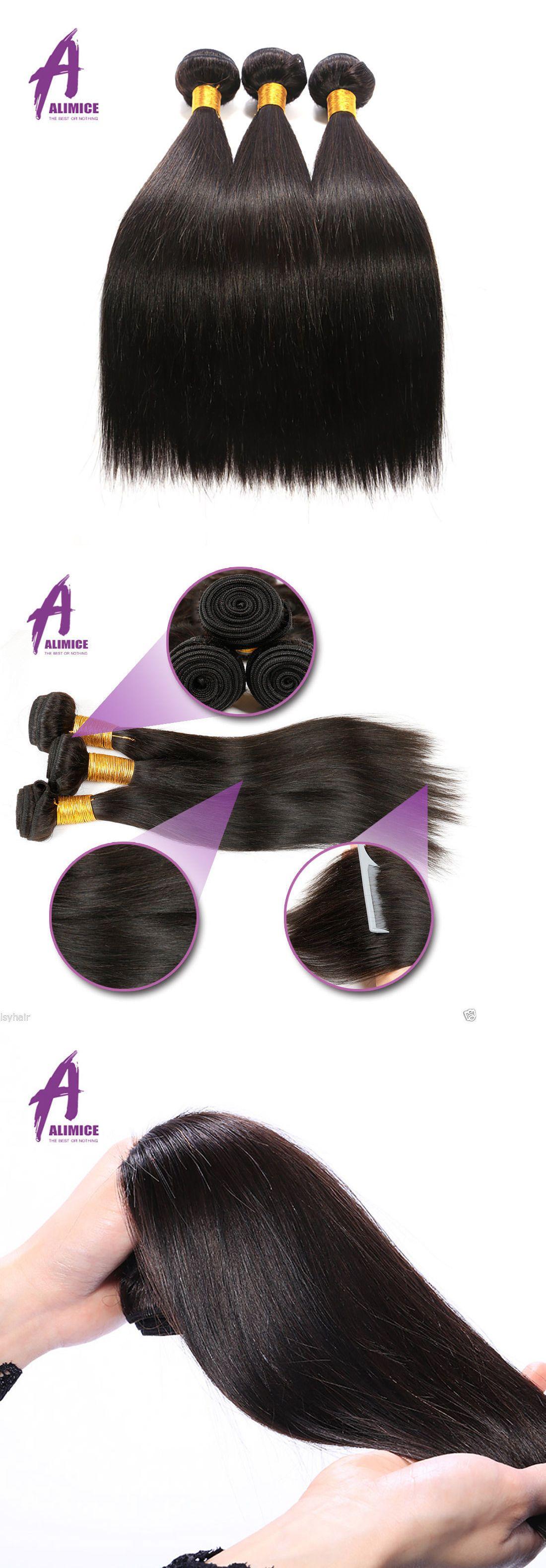 Hair Extensions 3 Bundles Thick 100 Brazilian Virgin Extensions
