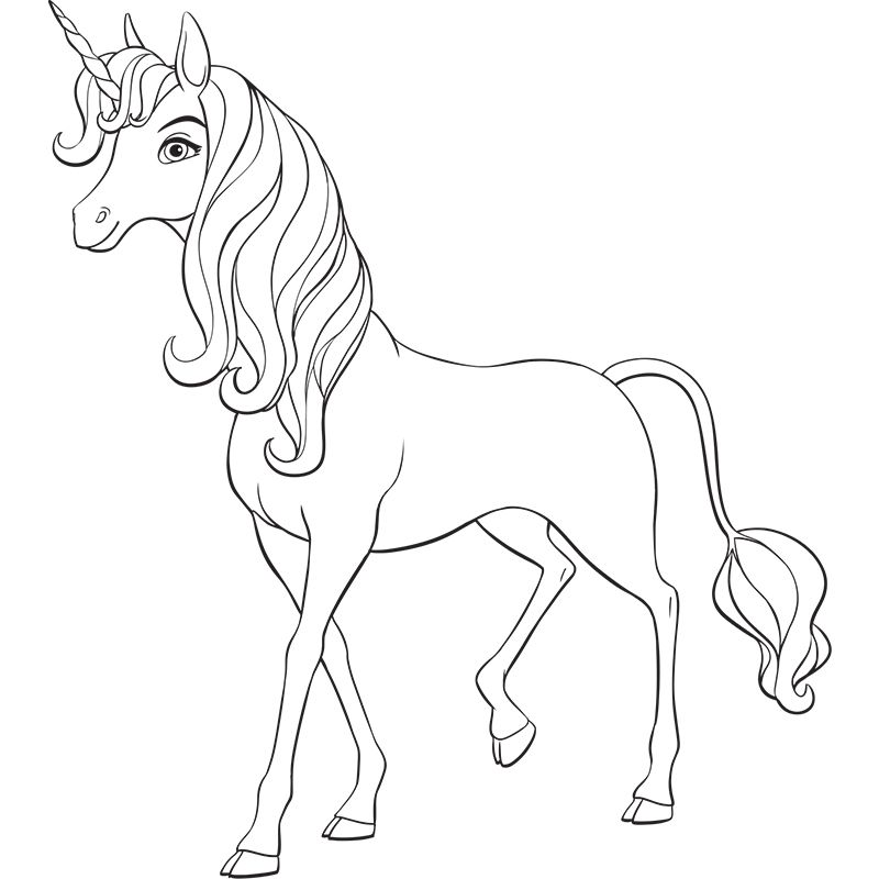Mia And Me Coloring Pages Unicorn Coloring Pages Horse Coloring