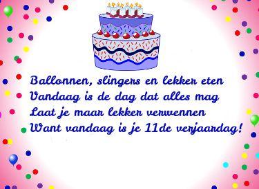 11 jaar gefeliciteerd Verjaardag plaatjes 11 jaar, mooie verjaardagsgedichtjes voor een  11 jaar gefeliciteerd