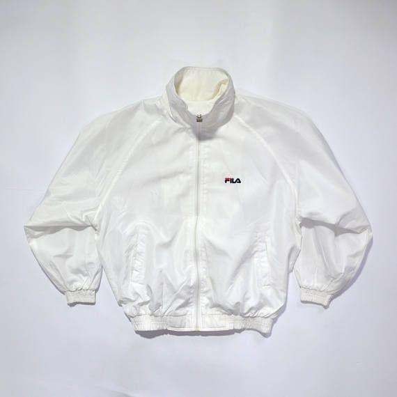 639456e9f0a83 Vintage 90s FILA White Jacket // Embroidered Logo // 90s Fashion ...