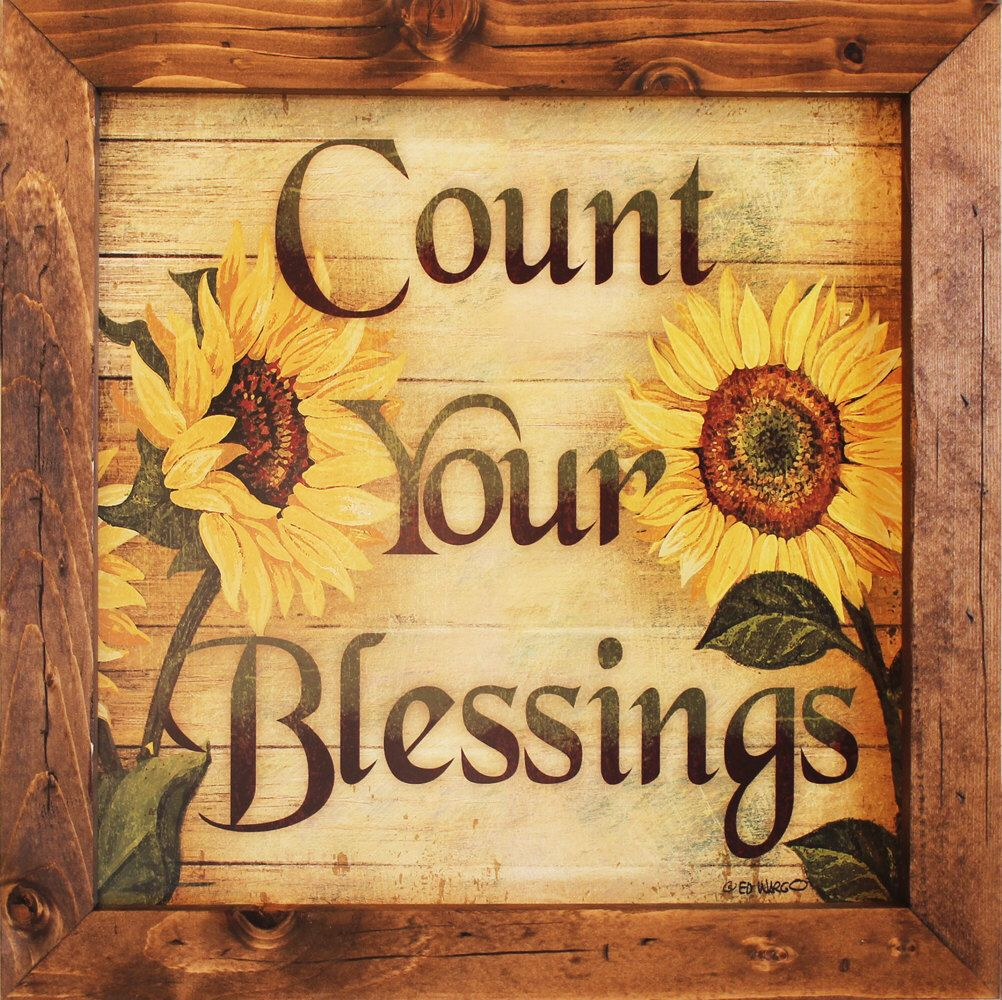 Count Your Blessings, Inspirational Decor, Inspirational Art ...