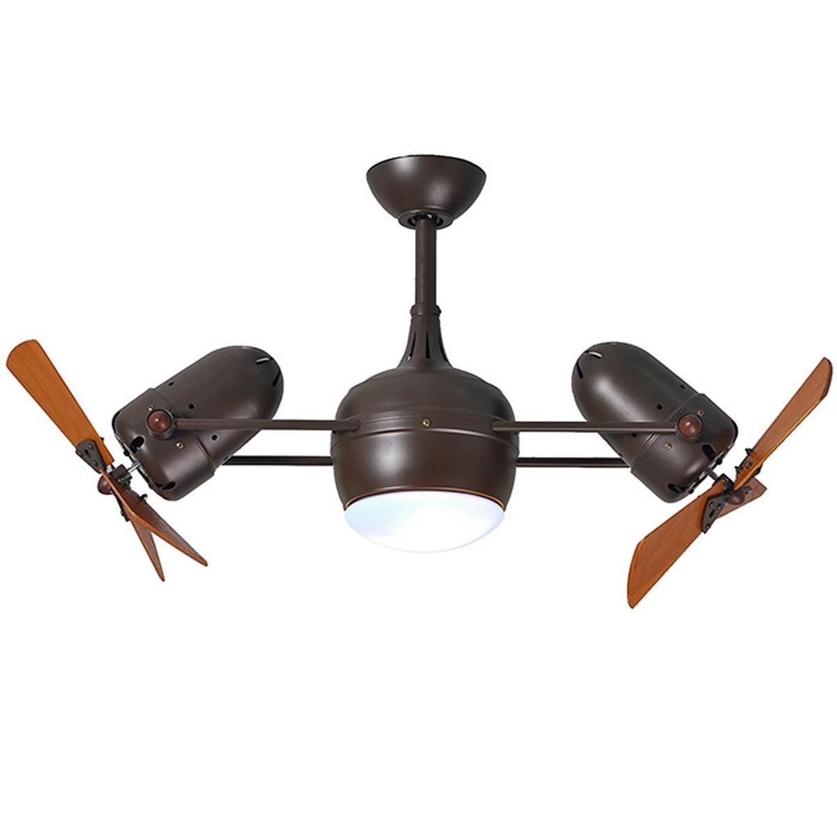 """40"""" Dual Head Wood Blade Ceiling Fan   Ceiling fan ..."""