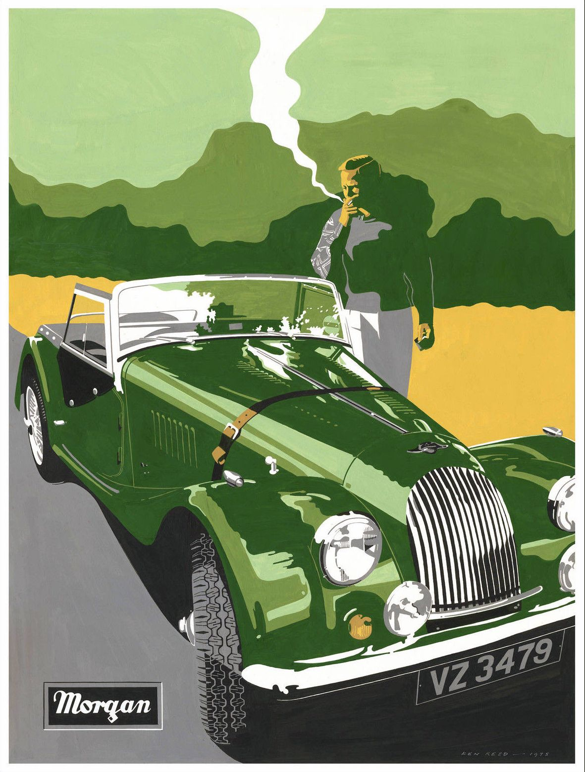 Morgan Sports Car Poster S Car Advertising Pinterest - Sports cars posters