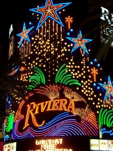 Riviera Casino Neon Lights Vegas Lights Casino Las Vegas Vintage Neon Signs