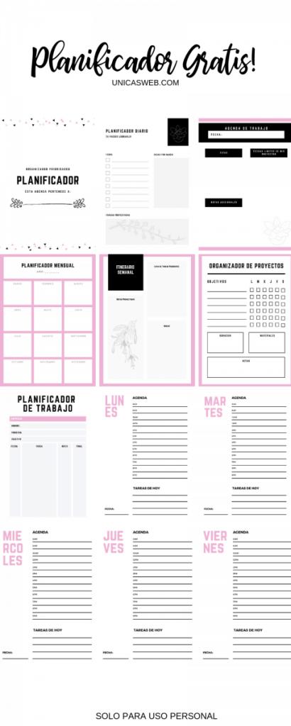 Descarga Un Planificador En Espanol Gratis Empresarias Unicas Planificador Paginas Planificador Planificador Imprimible