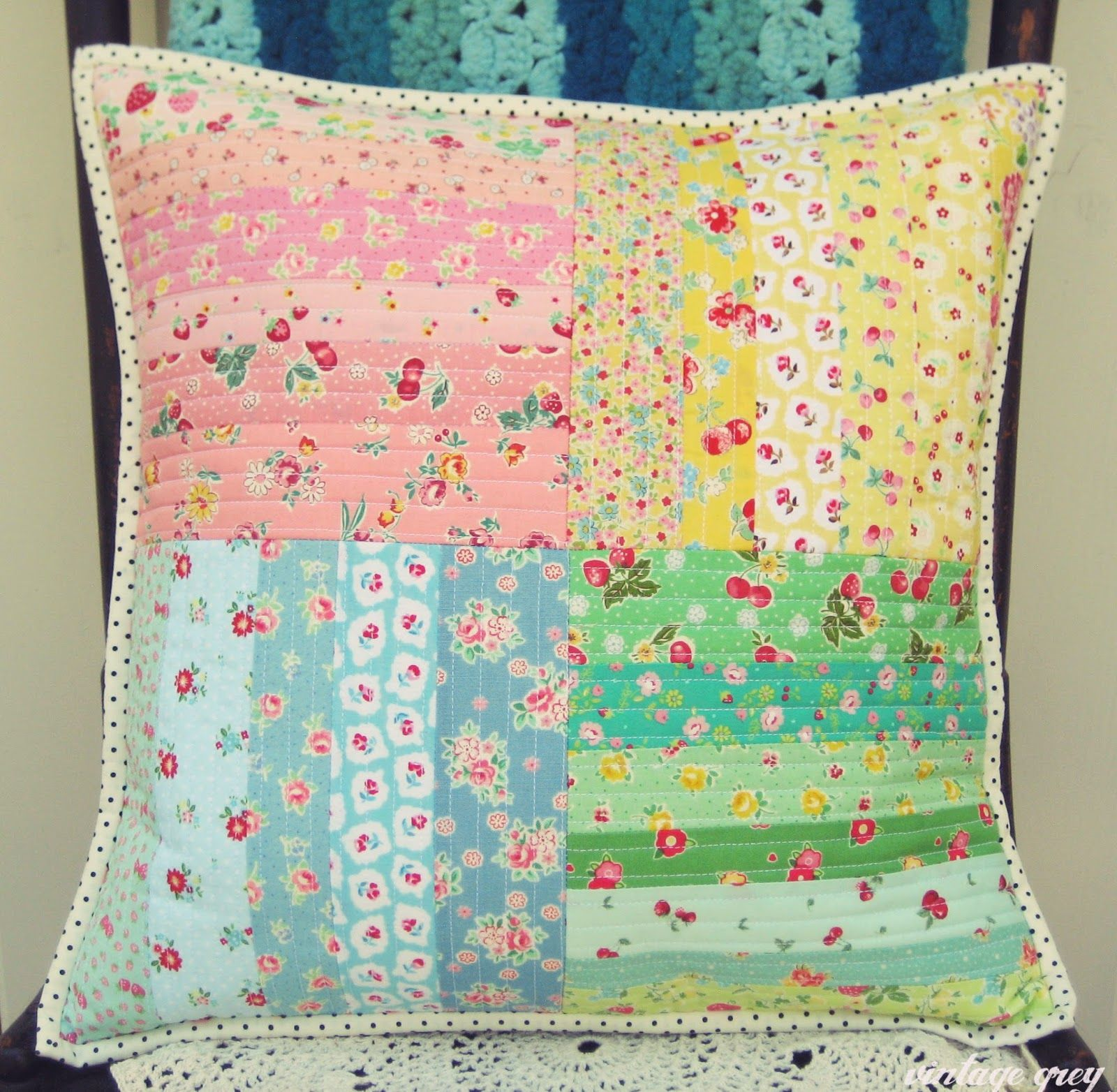 Vintage grey cojines patchwork pinterest giveaway retro and gray
