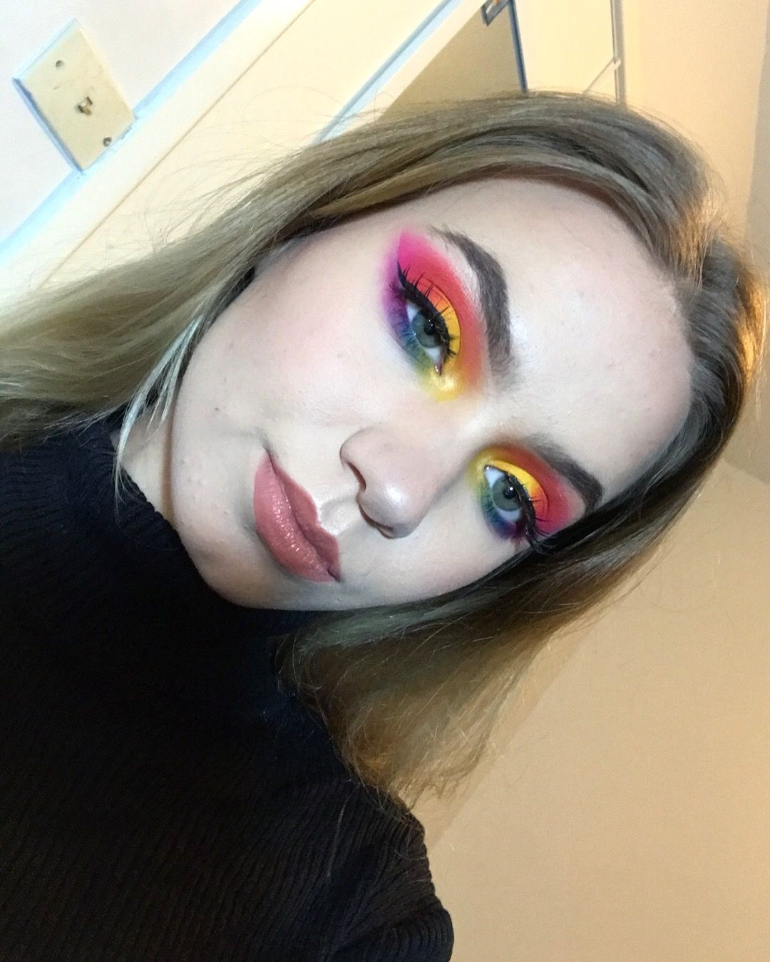 Morphe 35B Palette Pride Month Eye Makeup Look Rainbow Eyeshadow
