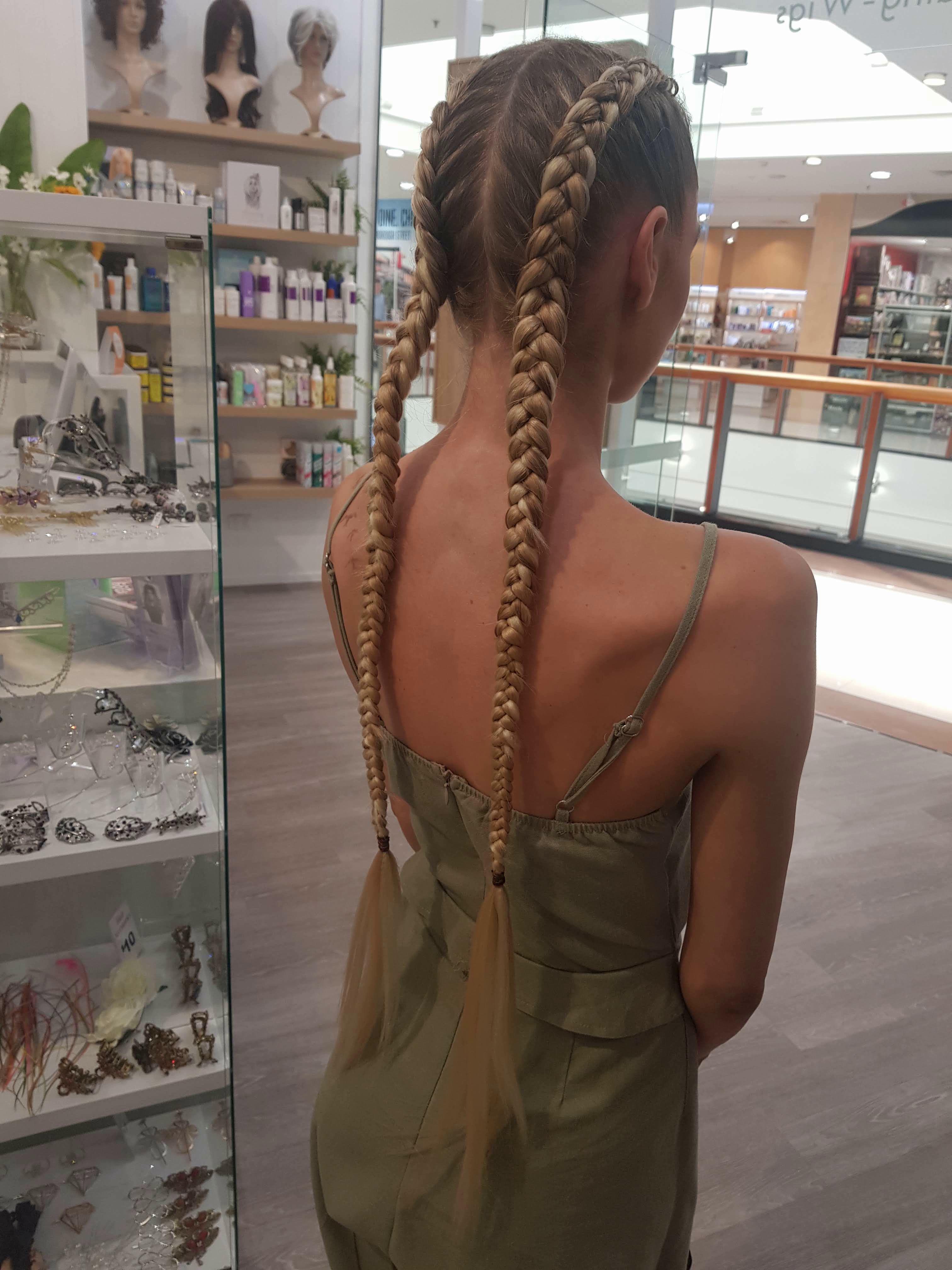 Long Blonde Dutch Braid Extensions Braid In Hair Extensions Braids With Extensions Hair Styles