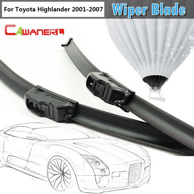 Cawanerl Car Soft Rubber Windshield Wiper For Toyota Highlander 2001 2007 Auto Bracketless Windscreen Wiper Blade 2 P Windscreen Wipers Wiper Blades Optima Car