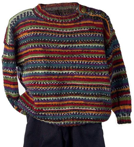 Johnny is a crew neck baby pullover that is self patterning in our ...