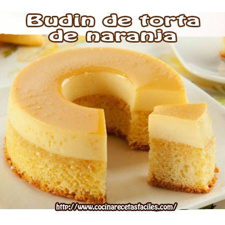 Budin de torta de naranja: