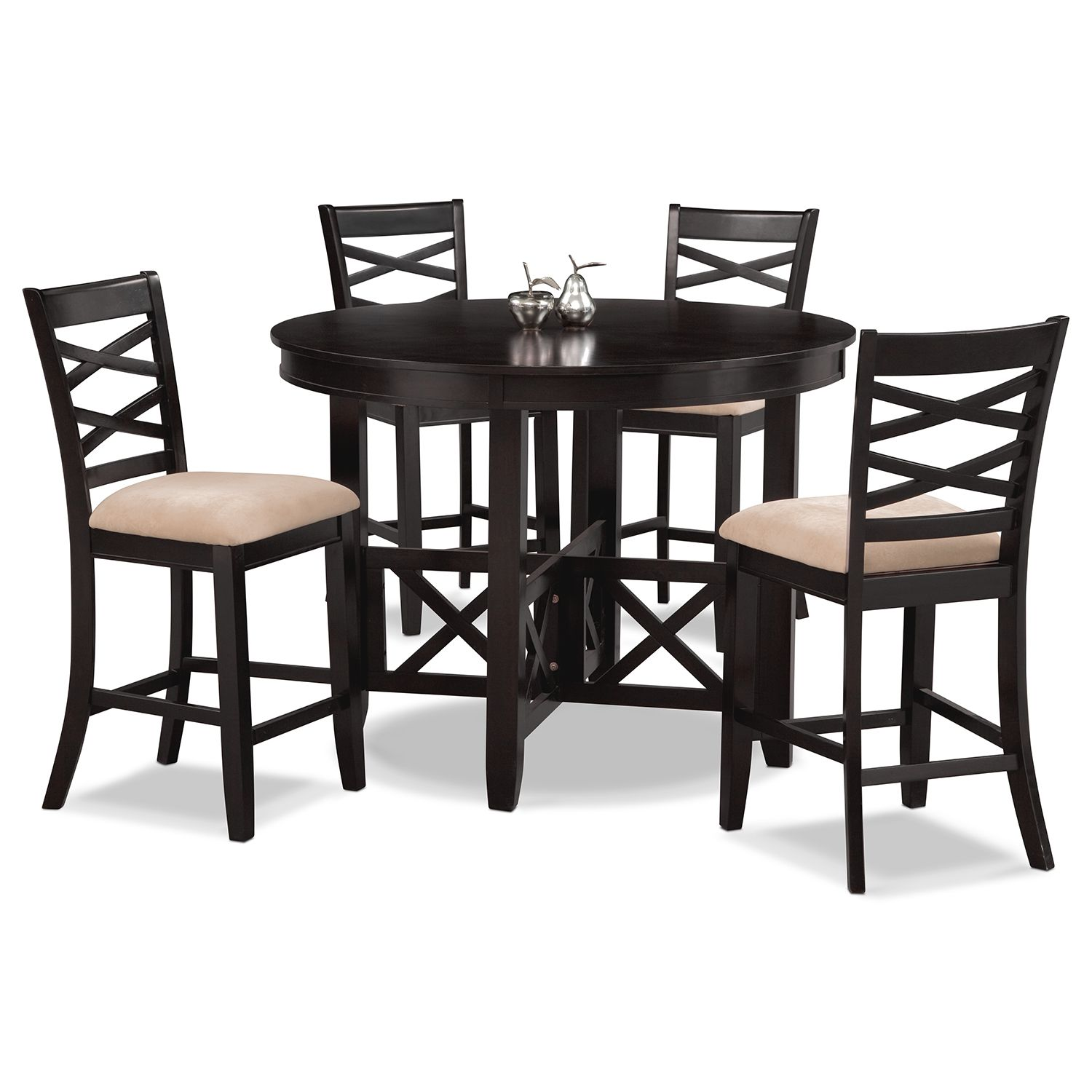 Dining Room Furniture - Americana Espresso 5 Pc. Counter-Height ...