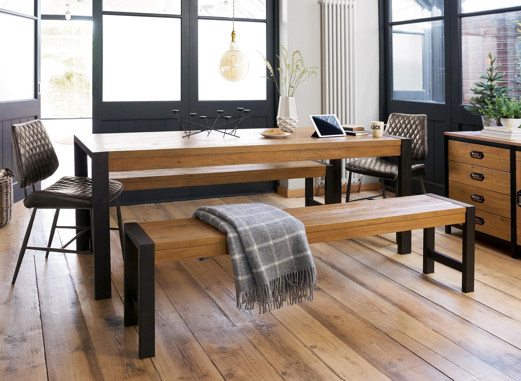 Buy Hudson Large Dining Table And Bench Set From The Next Uk