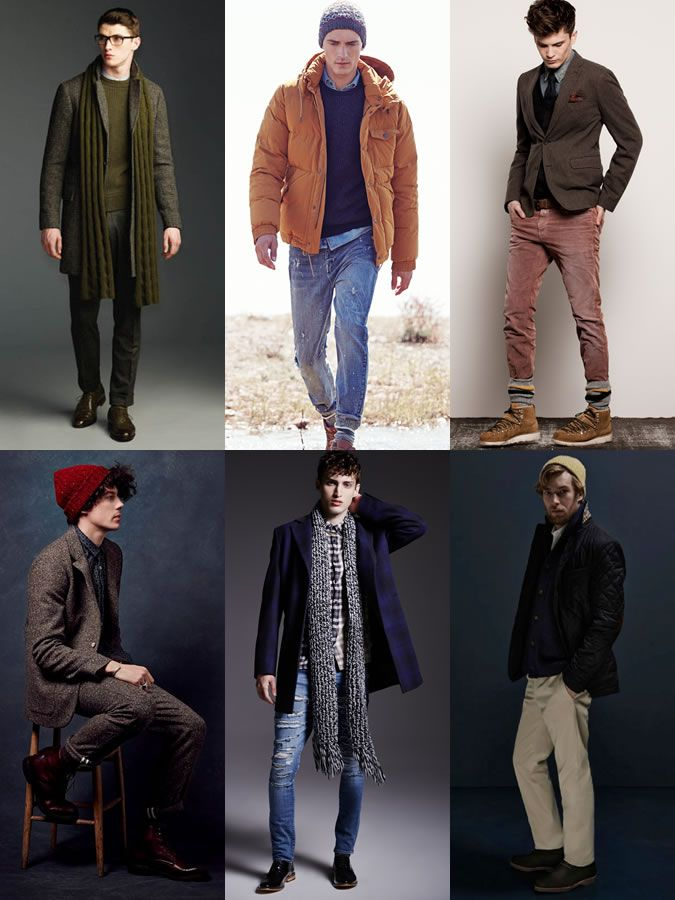 Men's Chunky Knitted Beanies, Scarves and Socks - Winter Outfit Inspiration Lookbook