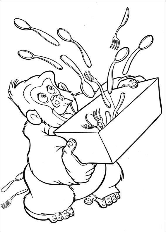 Tarzan Malarbilder 10 Bilder Zum Ausmalen Fur Kinder Ausmalbilder Ausmalen