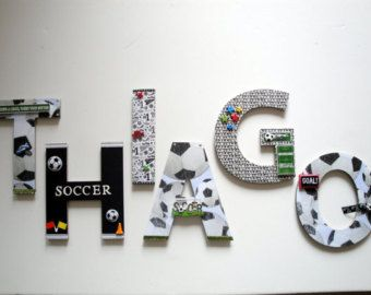 Soccer Sports Wall Letters, 8\