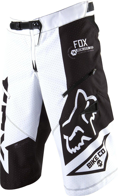 Fox Black White Red Demo Mountain Bike Gloves