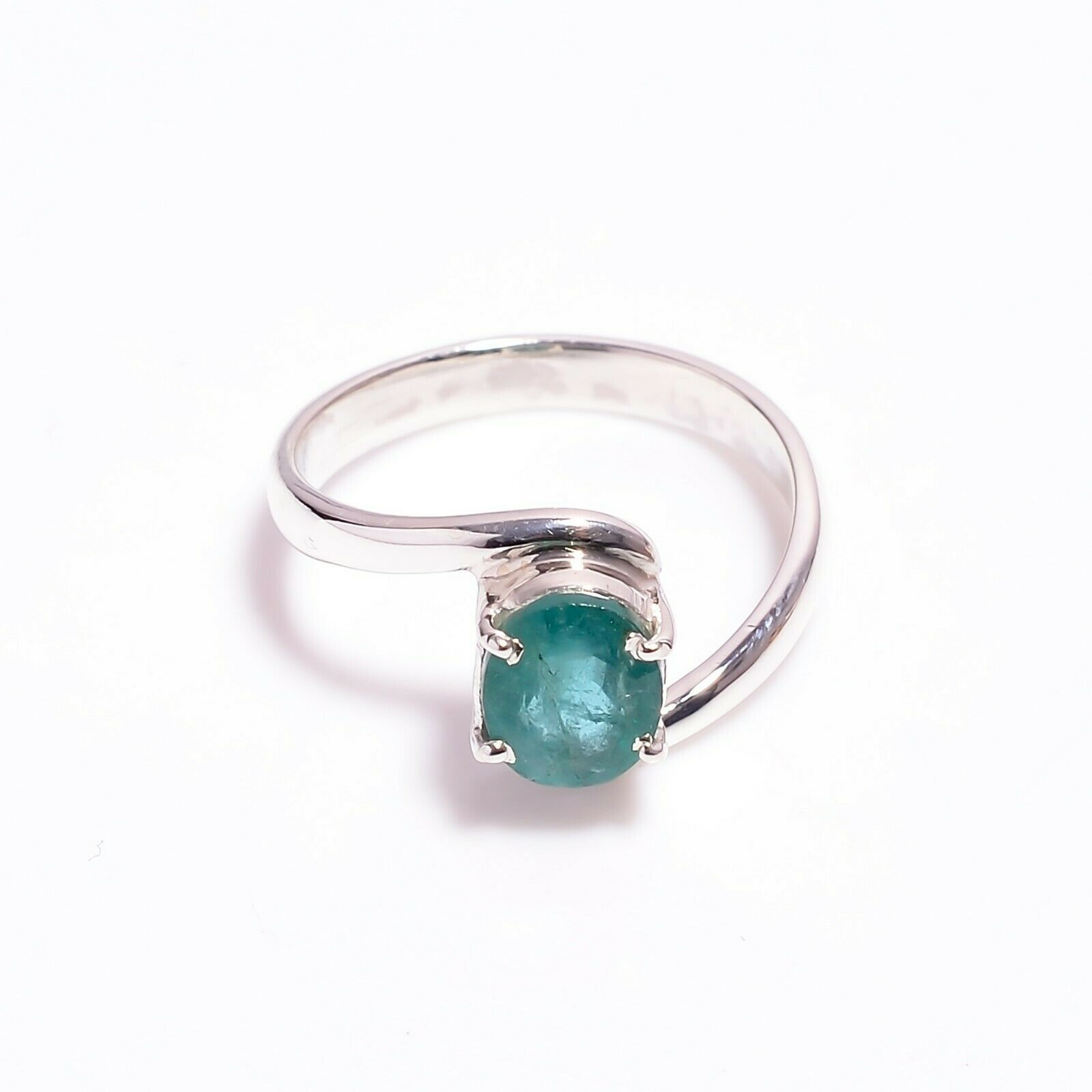 Anniversary,Midi Ring,Engagement Ring Promise Ring Statement Ring,May Birthstone -RE-035 Emerald Ring,92.5 Sterling Silver Valentine Gift