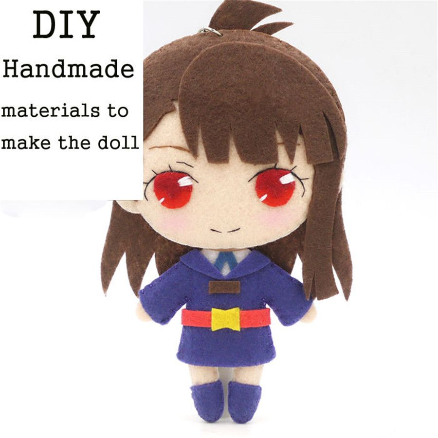 Anime Inuyasha Higurashi Kagome Handmade DIY Toy Keychain Hanging Plush Doll