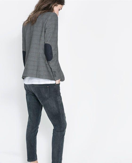 Zara Coderas Cuadros Blazer CoderasModa Mujer w0knOP