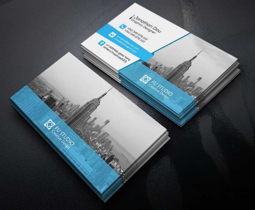 free creative business card psd project 4 business card
