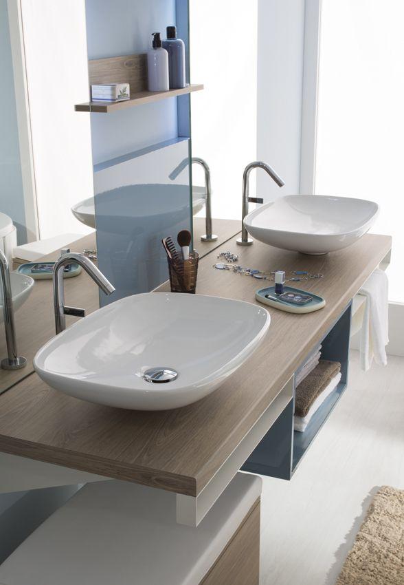 Pensez à mixer les matières pour créer une salle de bain originale - porte serviette a poser