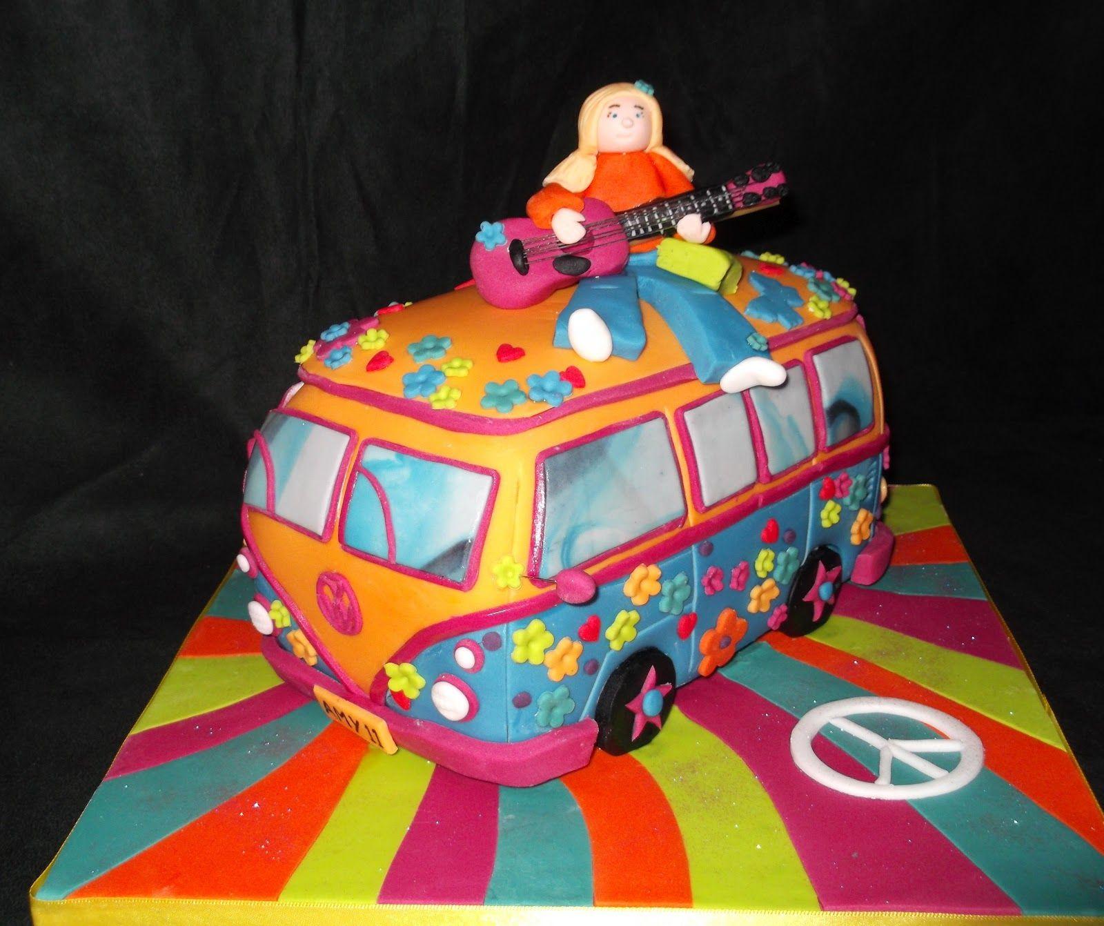 hippy cakes hippy camper van cake tats pinterest kuchen geburtstagskuchen und kuchen. Black Bedroom Furniture Sets. Home Design Ideas