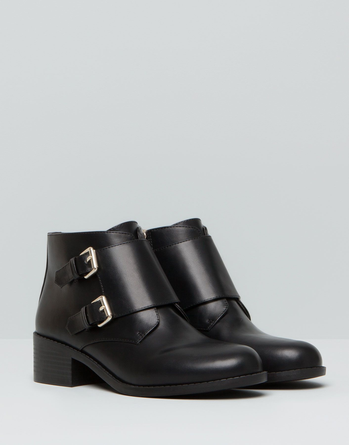 Botin Hebillas Botas Y Botines Zapatos Pull Bear Espana Boots Short Boots Women Shoes
