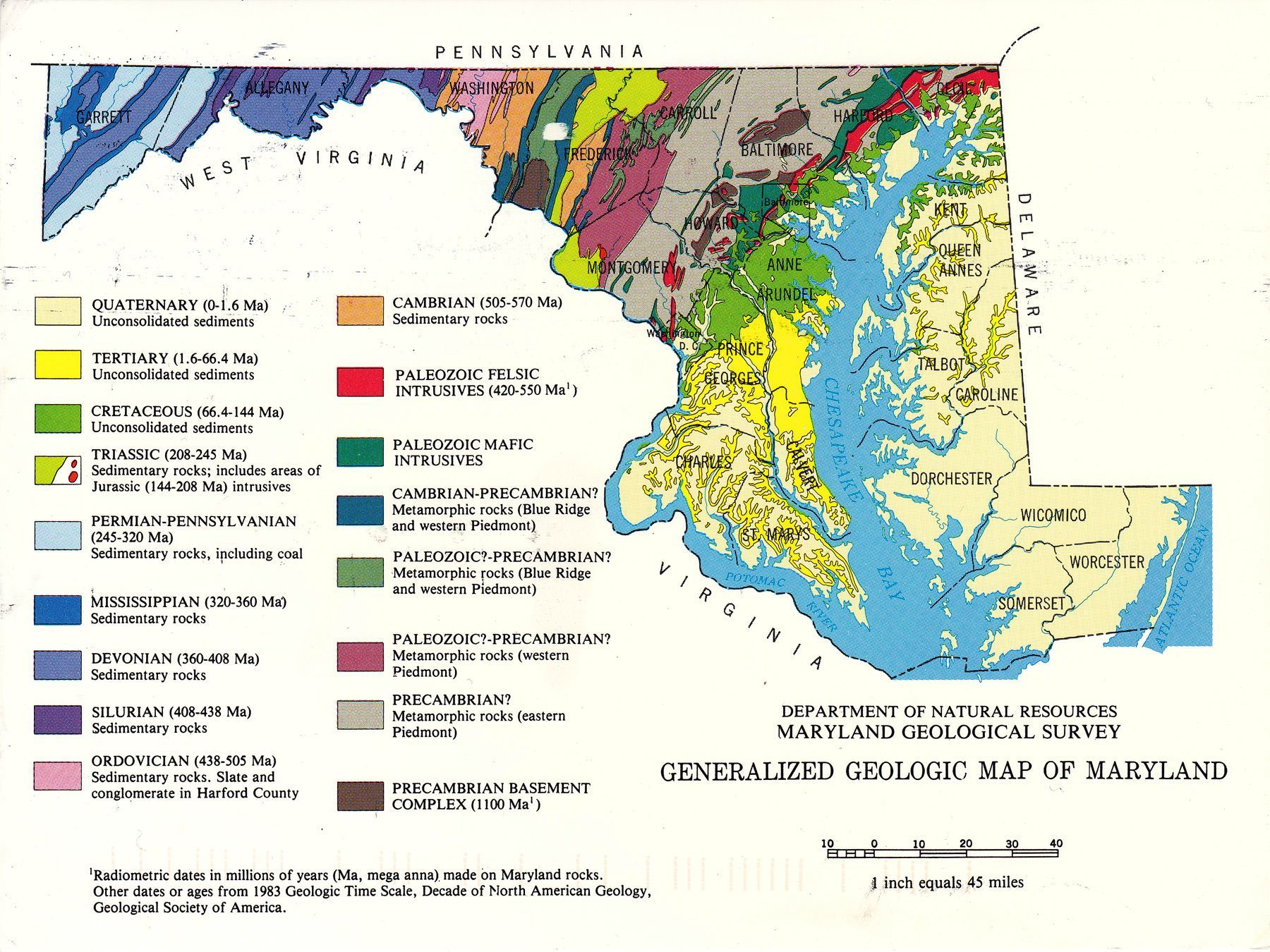 Generalized geologic map of maryland 1983 maryland geology me generalized geologic map of maryland 1983 maryland geology nvjuhfo Gallery
