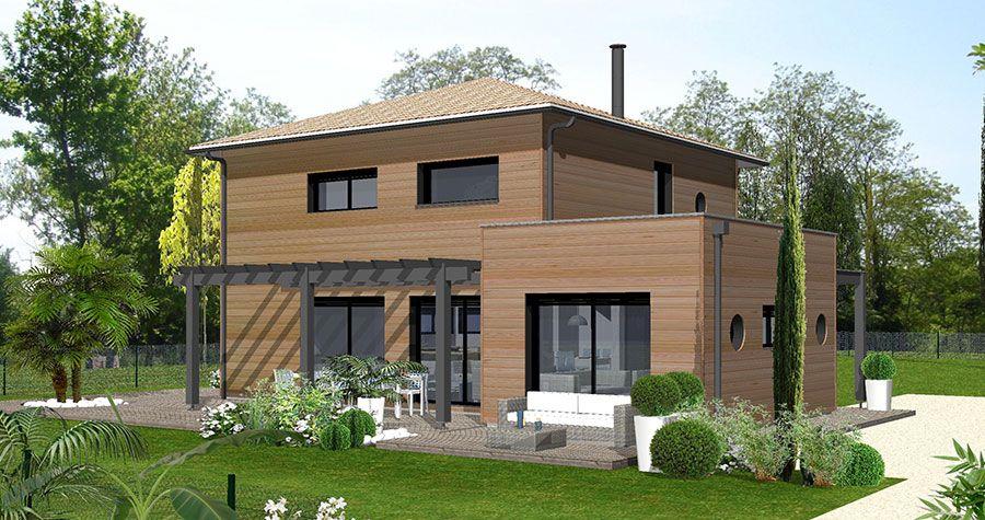 Maison Bois 10 - Contemporaine - IGC Bois TS4 Pinterest