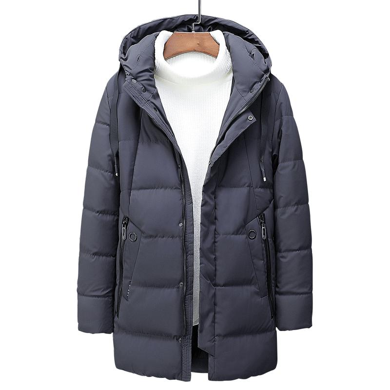 Allywit Mens Cotton Fleece Windproof Jacket Wool Outerwear Classic Jacket Coat