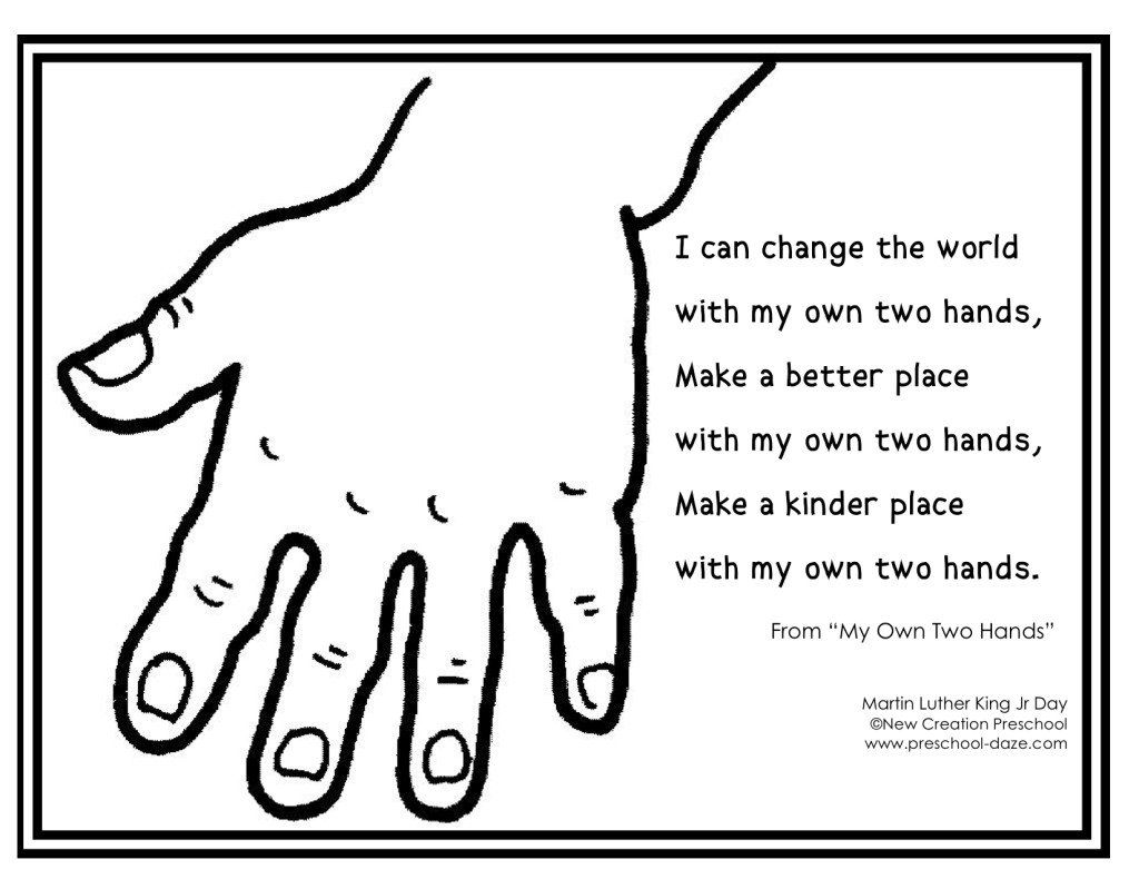 Martin Luther King Jr My Own Two Hands Coloring Page Dr