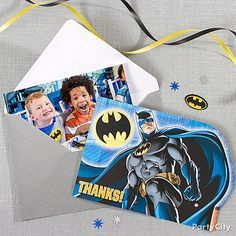 Even heroes like being thanked! Send each kid a Batman thank you note with a picture of the whole gang of heroes in action!