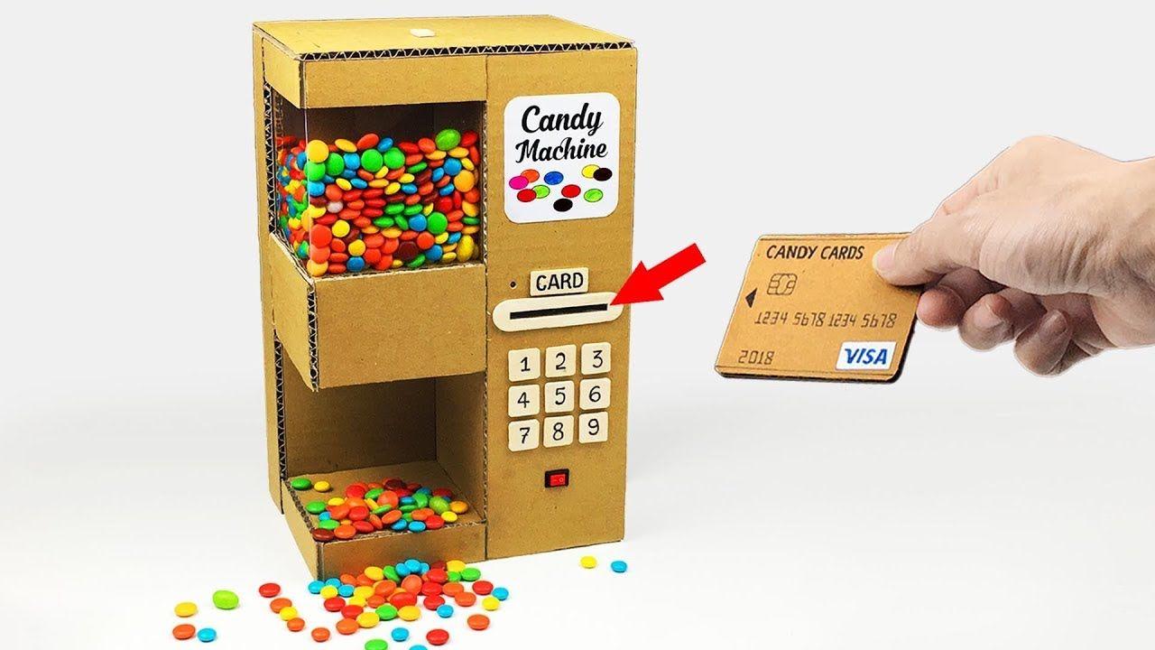 DIY CANDY DISPENSER Vending Machine Using CARD from