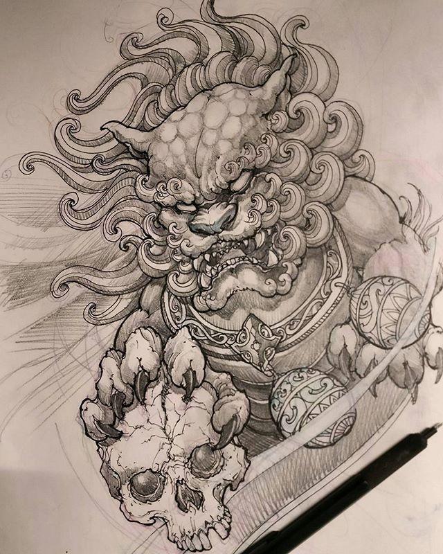 foodog sketch by artist davidhoangtattoo worldofpencils2016