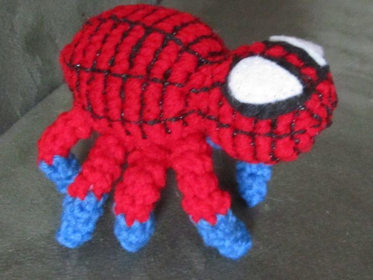 Free Easy Spider Pattern Two Ways.   Häkeln Spiderman   Pinterest ...