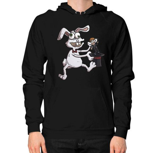 Twisted Rabbit pulling the Magician out of the hat Hoodie (on man)