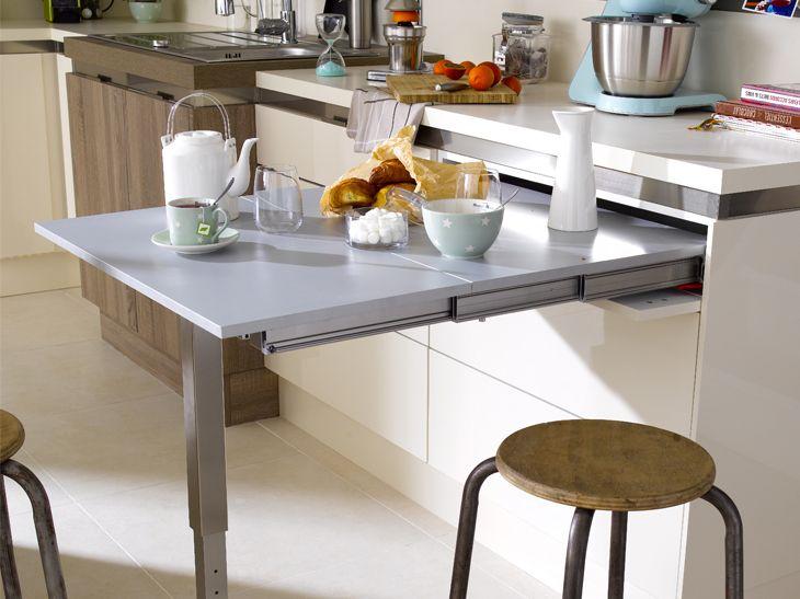 Table Rétractable Idées Cuisine Pinterest Leroy Merlin - Table a manger escamotable pour idees de deco de cuisine
