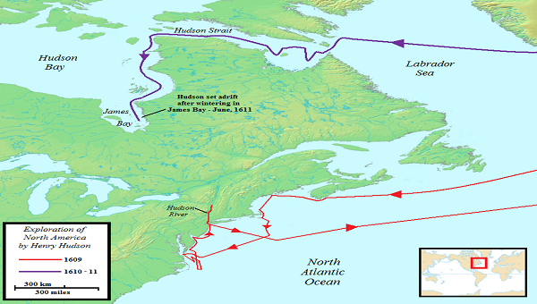 Hudson Bay On Us Map.Exploration Map Of Sir Walter Raleigh S Route Yahoo Image Search