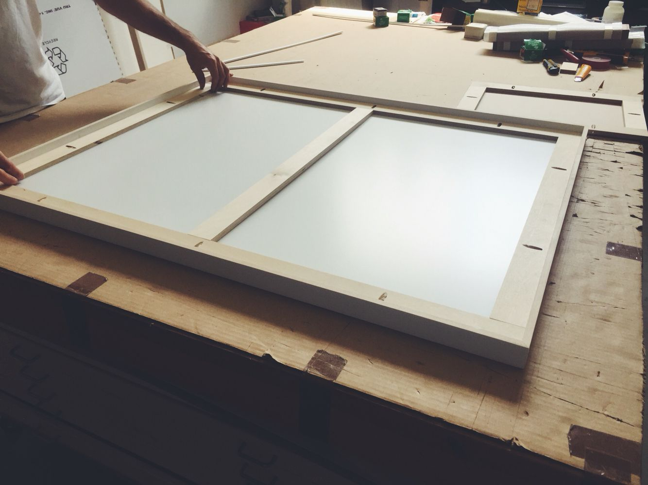 Fully custom framing from Fotofoam. Hand cut, assembled and painted ...