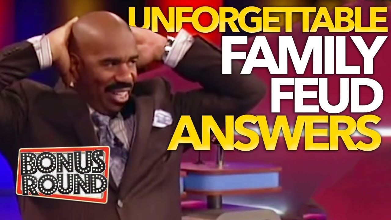 Unforgettable Family Feud Answers Steve Harvey Funny Moments On Family Feud Usa Youtube Family Feud Answers Family Feud Family Feud Funny