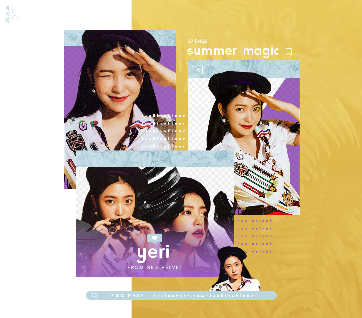 Red Velvet Yeri Summer Magic Png Pack By Tsukinofleur On Deviantart Red Velvet Velvet Png