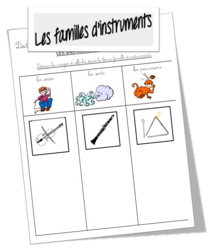 Assez Les familles d'instruments | Musique | Pinterest | Instruments, La  LI55