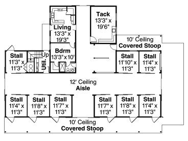 Build A Barn The Heartland 6 Stall Horse Plans For Barns | Horse ...
